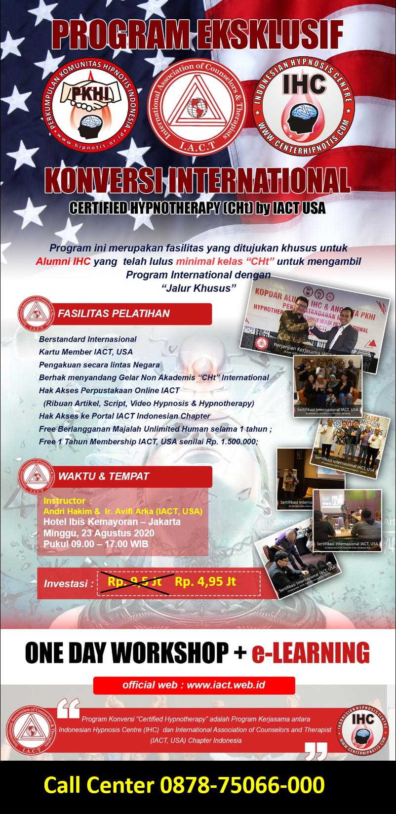 Flyer Pelatihan IACT Agustus 2020