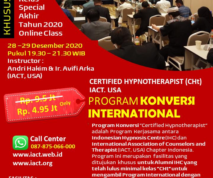 Flyer Pelatihan Konversi Internasional Desember 2020