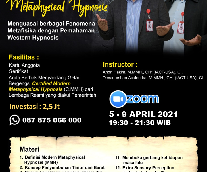 Modern Metaphysical Hypnosis - Andri Hakim Acalendra April 2021