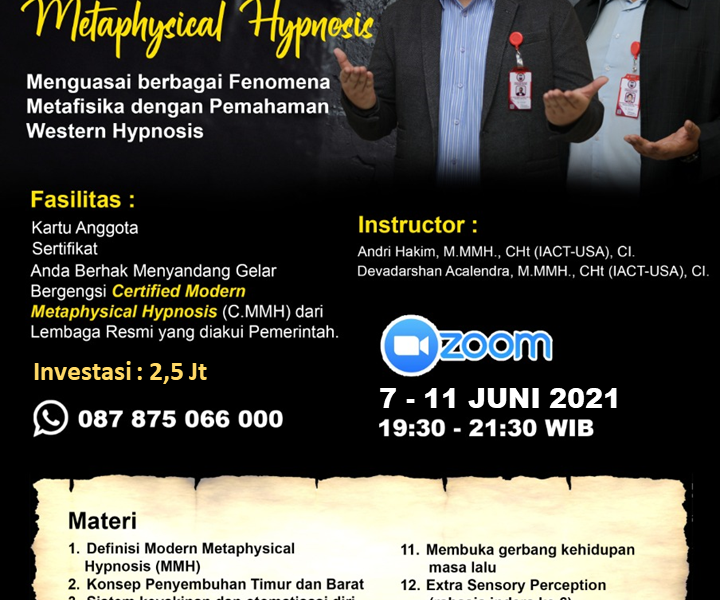 Modern Metaphysical Hypnosis - Andri Hakim Acalendra Juni 2021