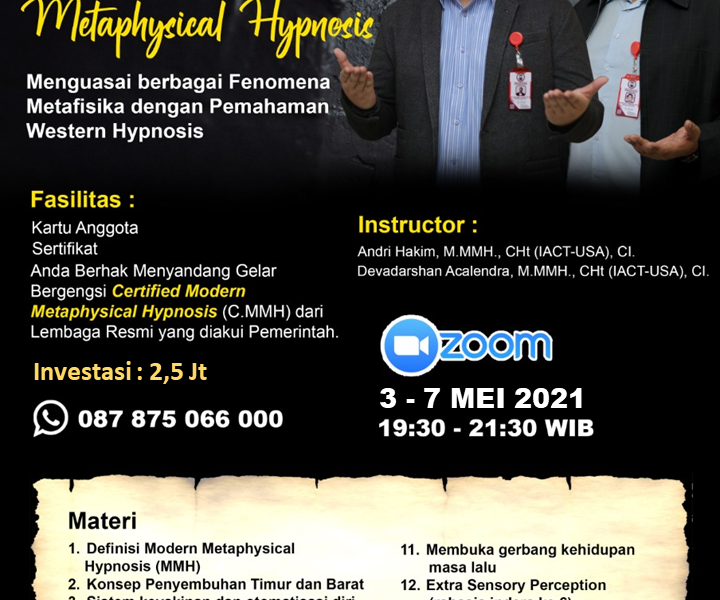 Modern Metaphysical Hypnosis - Andri Hakim Acalendra Mei 2021