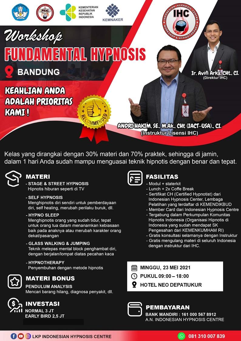 Fundamental Hypnosis, Bandung, 23 Mei 2021